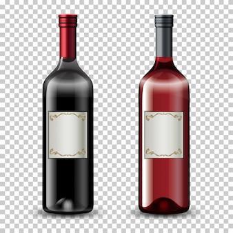 Set van wijnflessen
