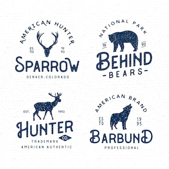 Set van wildernis badges