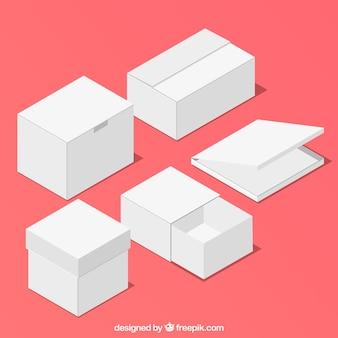 Set van witte dozen voor verzending