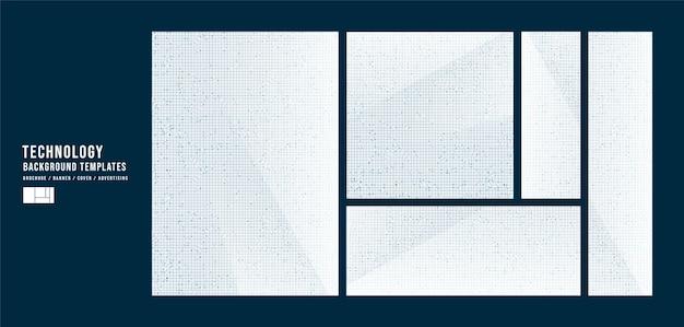 Set van witte technologie sjabloon