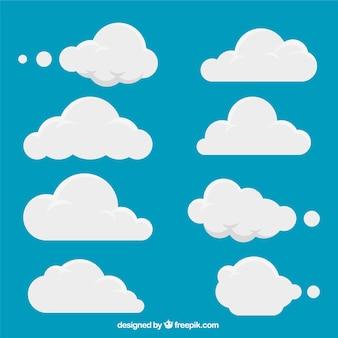 Set van witte wolken