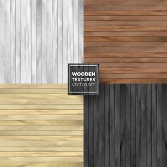 Set van wodeen textuur in verschillende kleuren