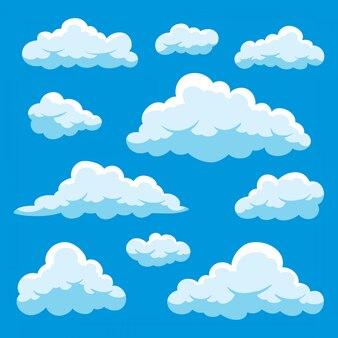 Set van wolken