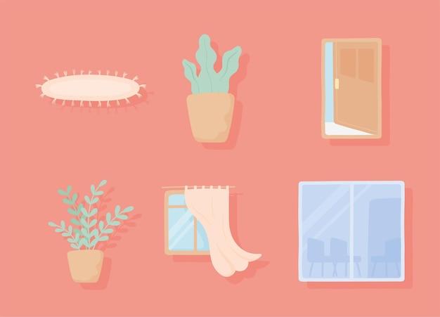 Set van woondecoratie