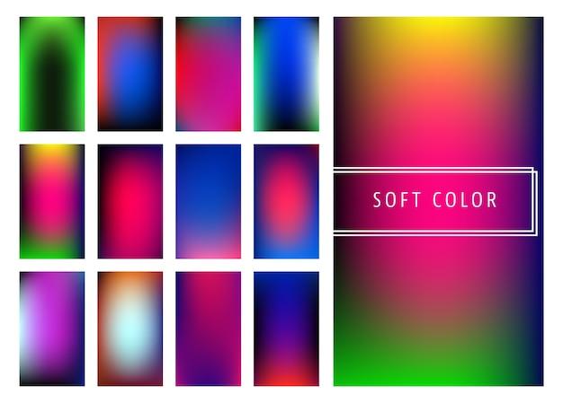 Set van zachte kleurovergangen achtergrond