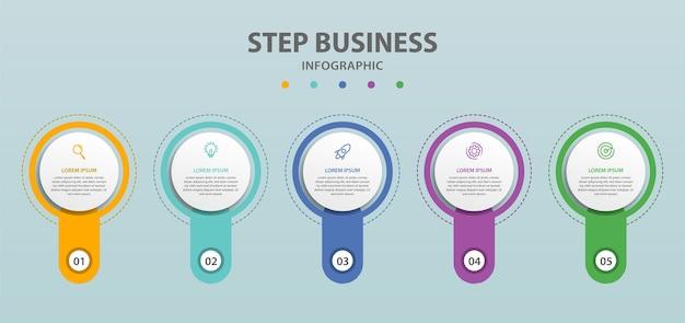 Set van zakelijke cirkel infographic sjabloon creatief