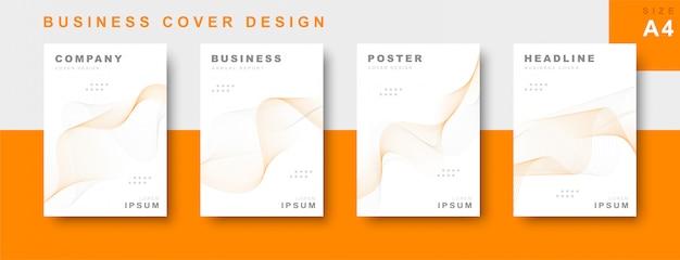 Set van zakelijke cover ontwerp