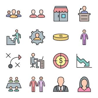 Set van zakelijke iconen