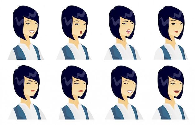 Set van zakelijke karakters.