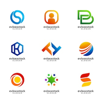 Set van zakelijke logo design vector sjabloon