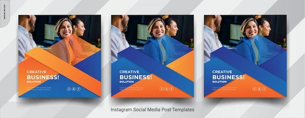 Set van zakelijke promotie insta post social media postontwerp