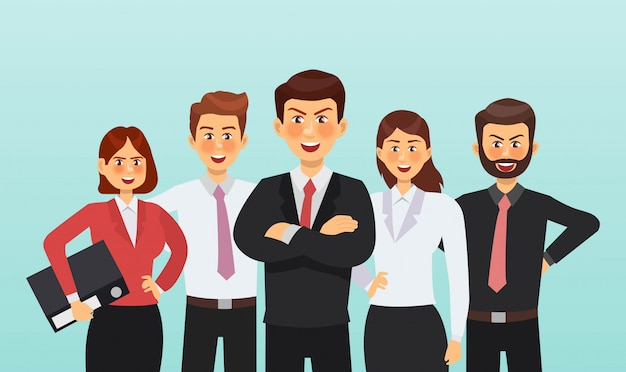 Set van zakenman en zakenvrouw characterdesign