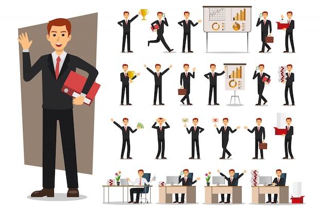 Set van zakenman karakter