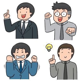 Set van zakenman
