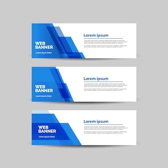 Set van zes abstracte vector moderne banners