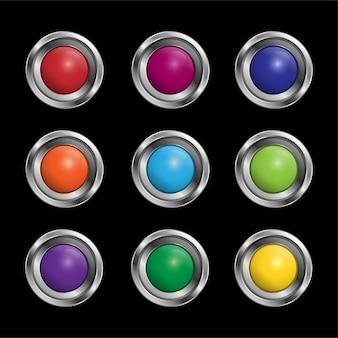 Set van zilveren ring en bal binnenin