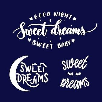 Set van zoete dromen