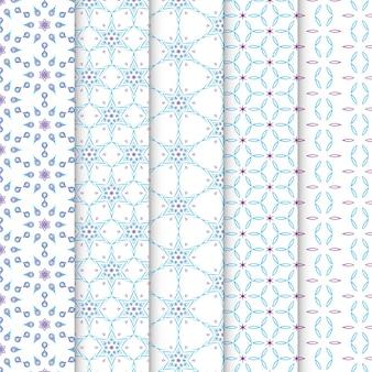 Set van zoete pastel naadloze patroon
