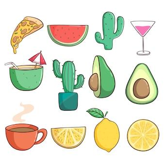 Set van zomer thema-iconen