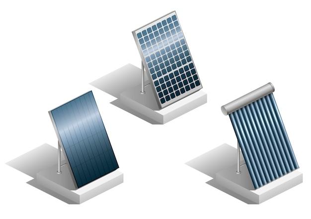 Set van zonnepanelen