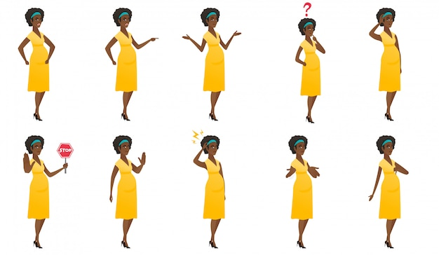 Set van zwangere vrouwen.