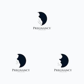 Set van zwangerschap logo ontwerp vector
