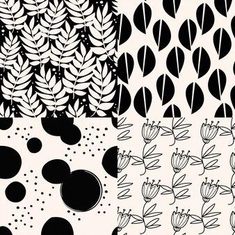 Set van zwarte astract patronen.