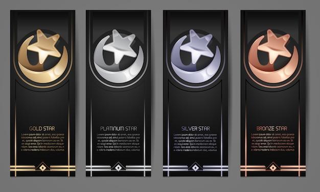 Set van zwarte banners