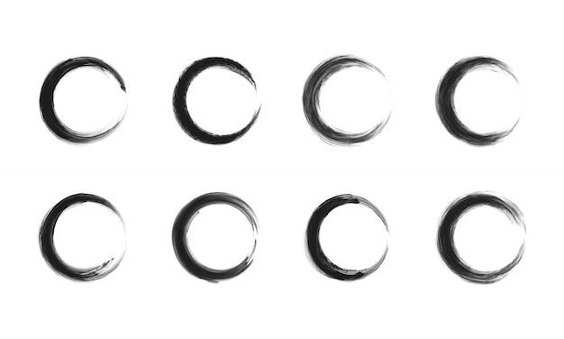 Set van zwarte cirkelframe.