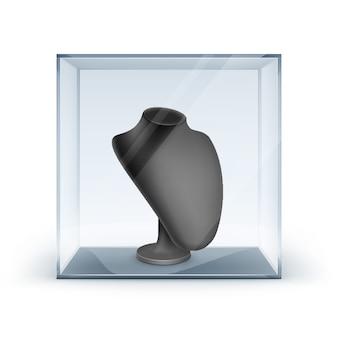 Set van zwarte kettingstandaard voor sieraden