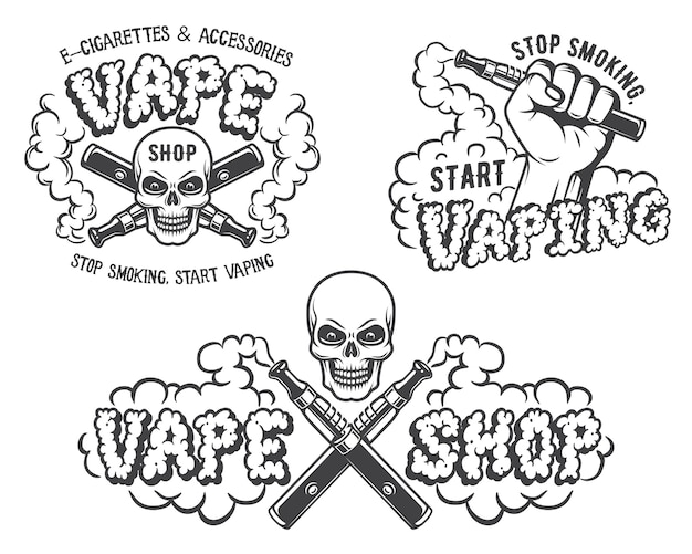 Set vape, e-sigaret emblemen