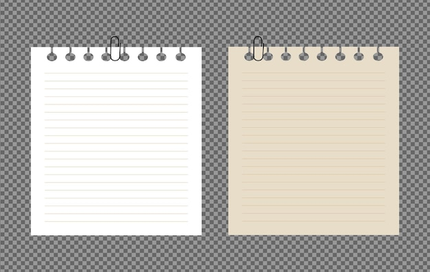 Set vellen papier a4, a5 met schaduwen, realistische papieren pagina