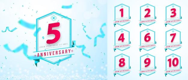 Set verjaardag sjabloonontwerp