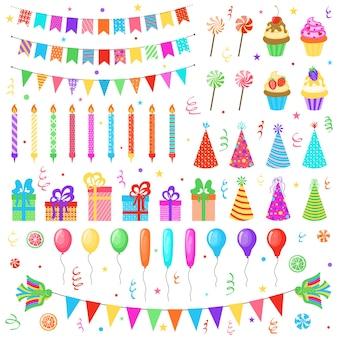Set verjaardagsfeestje elementen