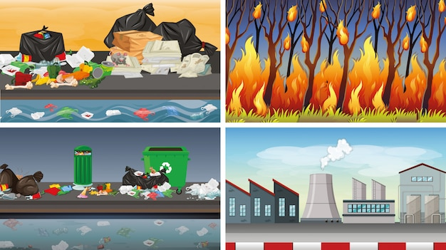 Set vervuilde scènes
