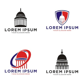 Set verzameling capitol dome vector