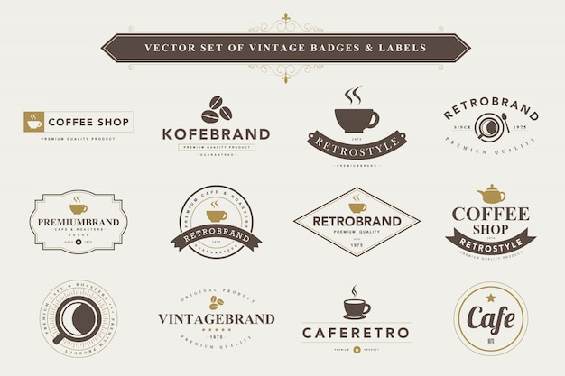 Set vintage badges en etiketten.