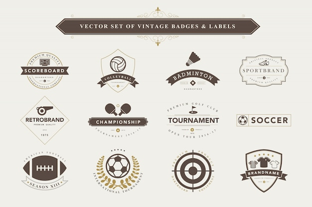 Set vintage badges en etiketten.