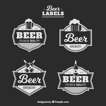 Set vintage bier stickers