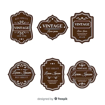 Set vintage bruin logo's