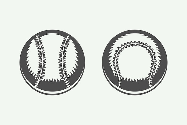 Set vintage honkbalballen