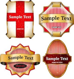 Set vintage kartonnen etiketten