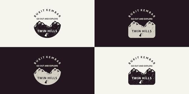 Set vintage logo berginspiratie