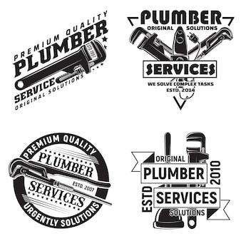Set vintage logo grafische ontwerpen