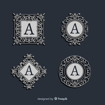 Set vintage sier logo's