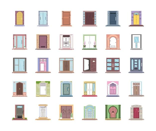 Set voordeuren