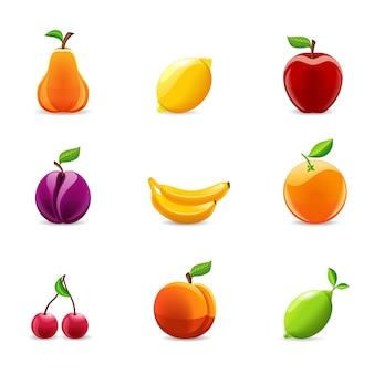 Set vruchten pictogrammen