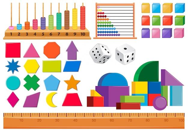 Set wiskundeobjecten