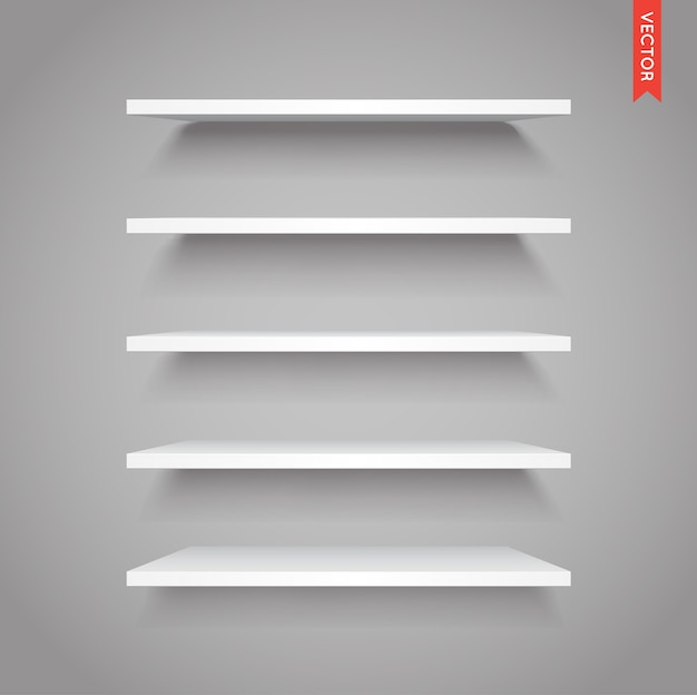 Set witte kunststof planken
