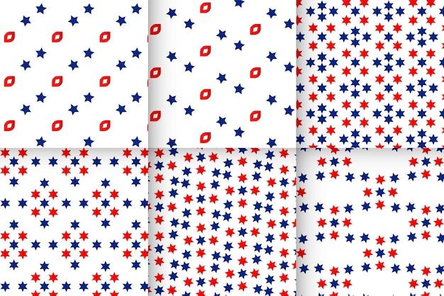 Set zigzag sterrenpatroon